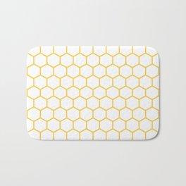 Honeycomb (Light Orange & White Pattern) Bath Mat