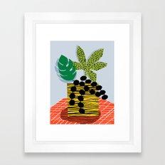 Cheeuh - hipster memphis throwback retro design minimal modern abstract shapes geometric trendy gift Framed Art Print