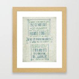 Henry Rollins Framed Art Print