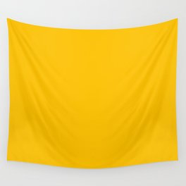 Amber Yellow Wall Tapestry