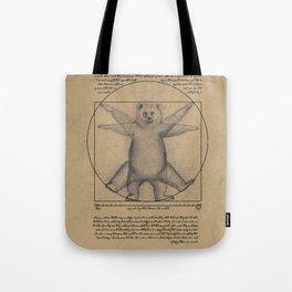 The Vitruvian Bear Tote Bag
