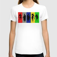justice league T-shirts featuring Justice Silhouettes by iankingart