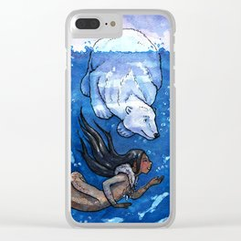 Arctic Mermaid Clear iPhone Case