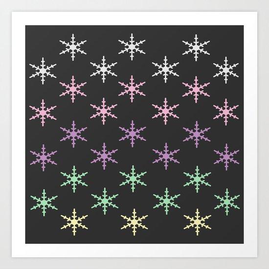 colorful snow pattern Art Print
