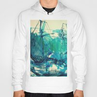 ship Hoodies featuring Ship by Hilary Dow