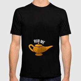 Genie Lamp Rub Me T-Shirt Naughty and Funny Genie T-shirt T-shirt
