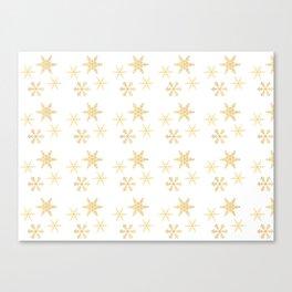 Snowflakes on White Canvas Print