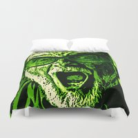 scream Duvet Covers featuring SCREAM! by Silvio Ledbetter