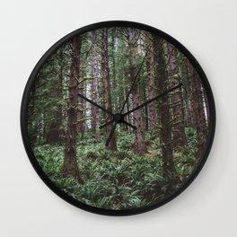 Forest Dark, Forest Deep III Wall Clock