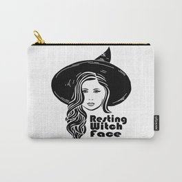 Resting Witch Face Carry-All Pouch