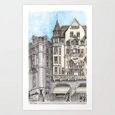 Downtown Basel, Switzerland Art Print