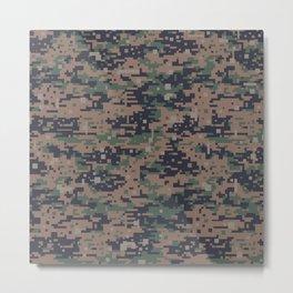 Marines Digital Camo Digicam Camouflage Military Uniform Pattern Metal Print