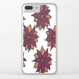 Holiday Two-Toned Flowers Clear iPhone Case
