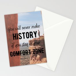 Motivational - Get Out Of Your Comfort Zone - Motivation Stationery Cards