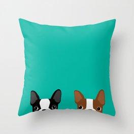 Boston Terriers Throw Pillow