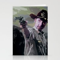 rick grimes Stationery Cards featuring Rick Grimes by Processed Image