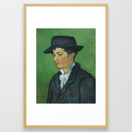 Portrait of Armand Roulin by Vincent van Gogh Framed Art Print