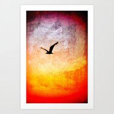 Flight at Dawn Art Print