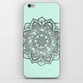 sea foam mandala iPhone Skin