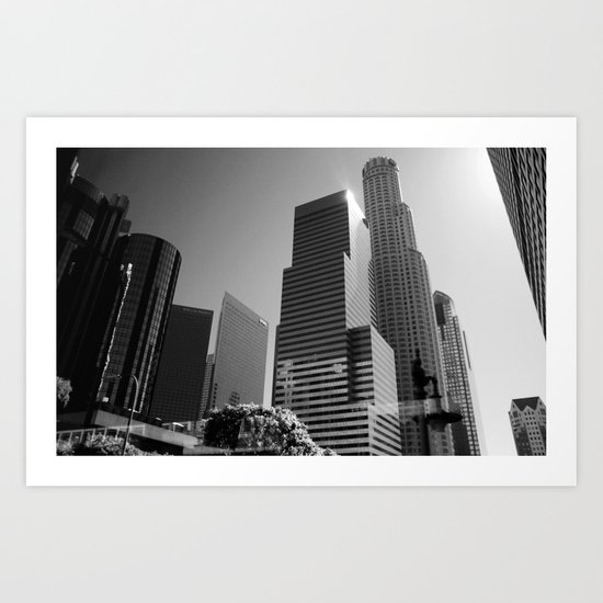 Los Angeles Skyscrapers Art Print