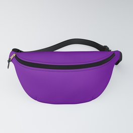 Solid Color Violet Purple Fanny Pack