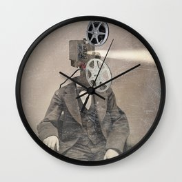 Faces of the past: Projector Wall Clock