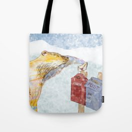 Valentines polar bear Tote Bag