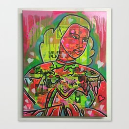 the rainbow lady by Barrie J Davies 2015 Canvas Print
