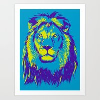 the lion king Art Prints featuring KING LION by free_agent08
