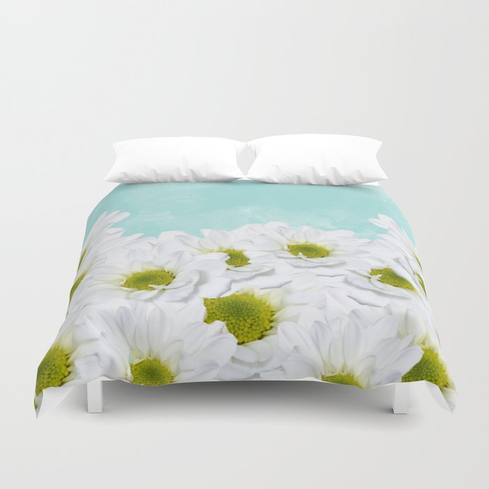 Summer Day Floral - Daisies Duvet Cover