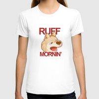 shiba inu T-shirts featuring RUFF MORNING - shiba inu by CUTE AF