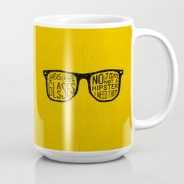 Hipster - yellow Coffee Mug