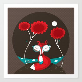 About a red fox Art Print
