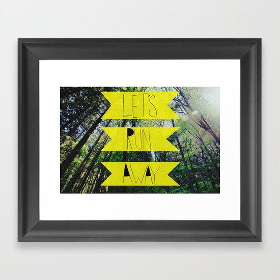 Let's Run Away: Forest Park Framed Art Print