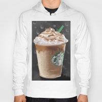 starbucks Hoodies featuring Starbucks by Amit Naftali