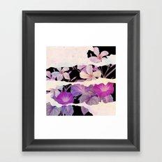 floral on torn paper Framed Art Print