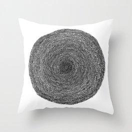 Circle / Semi Circle : Darker Colors Throw Pillow