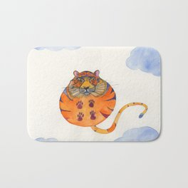 Tiger In The Sky Bath Mat