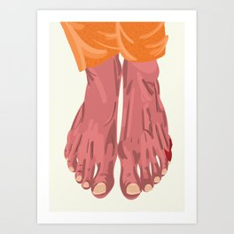 """From """"Tuesday 13"""" Bad Luck Series: Hitting toe Art Print"""