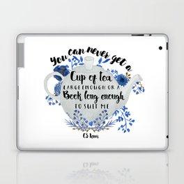 Tea & Books (CS Lewis Quote) Laptop & iPad Skin