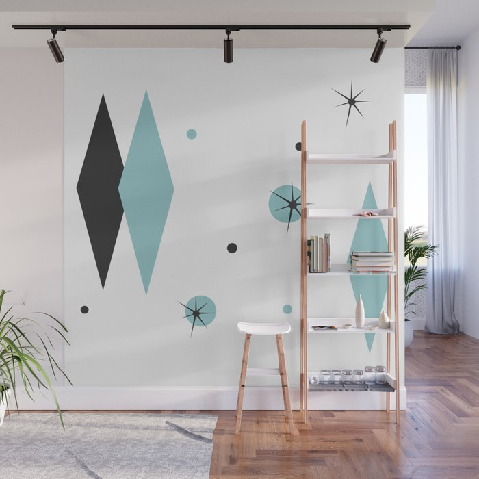 . Vintage 1950s Mid Century Modern Design Wall Mural by imagepixel