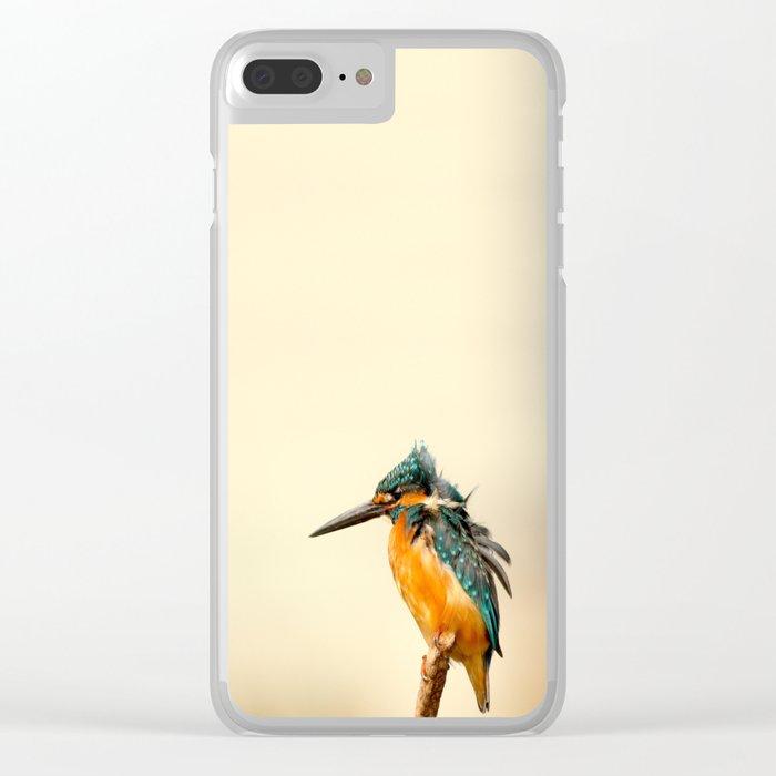 Kingfisher Bird Clear iPhone Case