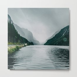 On the Road I Fjord in Norway Nature Photography Metal Print