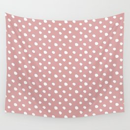 Mauve polka dots pattern - classy college student collection Wall Tapestry