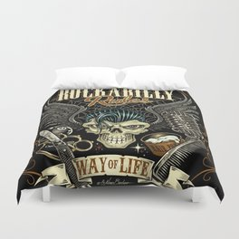 Rockabilly Rules Way of Life Duvet Cover