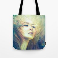 crown Tote Bags featuring Crown by Anna Dittmann