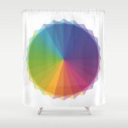 Fig. 011 Rainbow Circle Shower Curtain