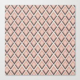 pink snake skin print Canvas Print