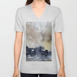 Abstract City Unisex V-Neck
