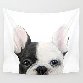 French Bulldog Dog illustration original painting print Wall Tapestry